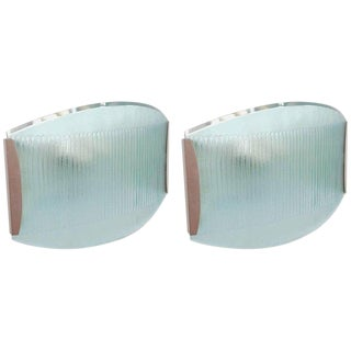 20th Century Italian Stilnovo Beveled Sconces - a Pair For Sale