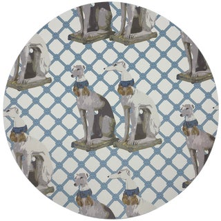 "Nicolette Mayer Regal Greyhound Wyeth 16"" Round Pebble Placemats, Set of 4 For Sale"