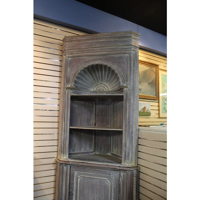 Country French Distressed Corner Cabinet - Image 5 of 11