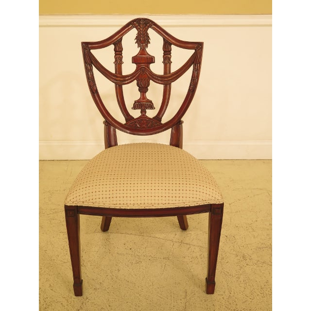 Set of 4 Maitland Smith Carved Mahogany Dining Room Chairs Age: Approx. 10 Years Old Details: Quality Construction Nice...