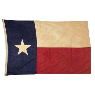 Antique Texas Cotton Sewn Flag For Sale