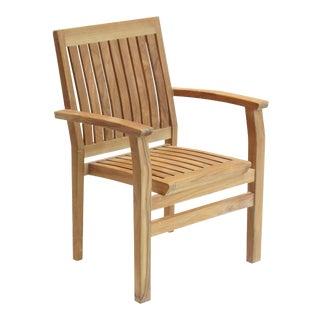 Niagara Teak Stacking Arm Chair For Sale