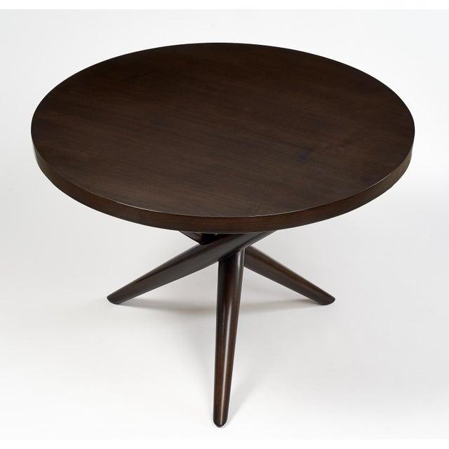 Wood T.H. Robsjohn Gibbings Tripod Base Side Tables - a Pair For Sale - Image 7 of 10