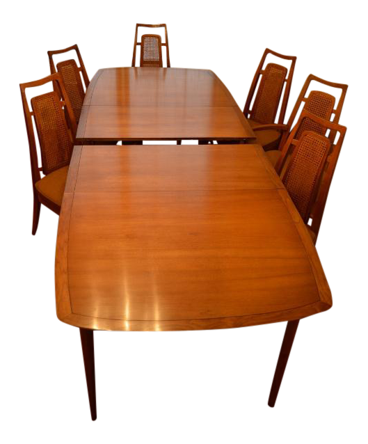 drexel heritage meridian dining room set chairish rh chairish com Used Drexel Dining Room Set Vintage Drexel Dining Room Sets