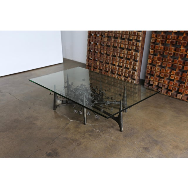 Daniel Gluck Sculptural Coffee Table Circa 1970 For Sale - Image 11 of 12