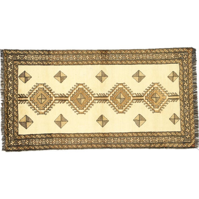 "Vintage Persian Shiraz Rug - 3'5"" x 6'9"" For Sale - Image 9 of 11"