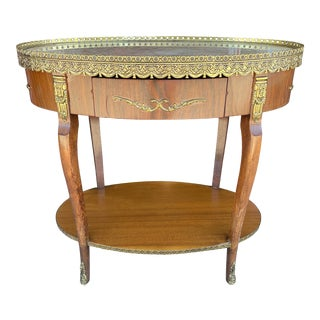 French Style Table With Ormolou Accents For Sale