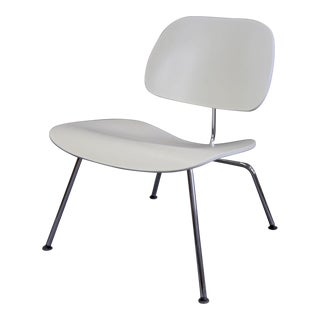 Mid-Century Modern Eames Style White Lounge Chair