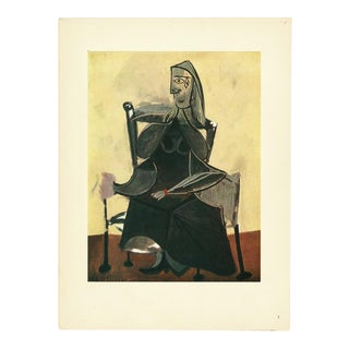 1943 Picasso Original Femme Assise Parisian Lithograph For Sale