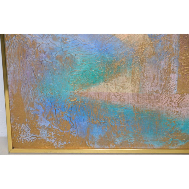 Abstract Lee Reynolds Vanguard Studios Mid Century Abstract Oil Painting C.1960s For Sale - Image 3 of 8