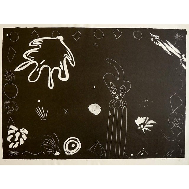 1979 Abstract Lithograph by Russell Vogt For Sale In Atlanta - Image 6 of 6