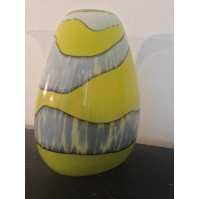Italian Modern Blown Glass Vase - Image 4 of 4