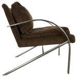 Streamline Modern Aluminum and Velvet Lounge Chair by Bernhardt