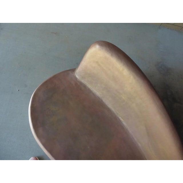 Metal Unusual Brass Serpentine Settee in the Style of Vladimir Kagan For Sale - Image 7 of 12