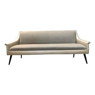 Mid-Century Modern Gold & Gray Sofa