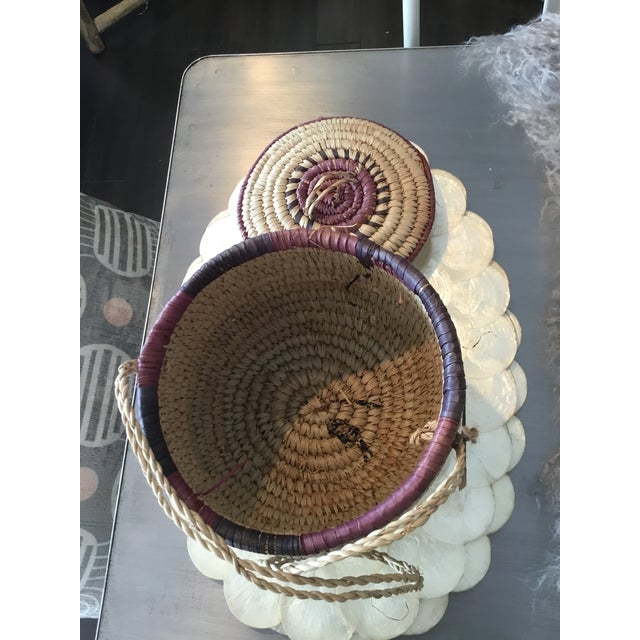 Nigerian Woven Basket For Sale - Image 4 of 8