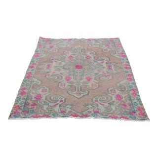 Traditional Turkish Ping Tone Carpet - 6' 7'' x 4' 3''