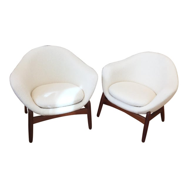"Mid-Century Ib Kofod-Larsen ""Pot"" Chairs- a Pair For Sale"