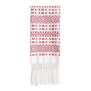 Red Chiapas Hand Towel