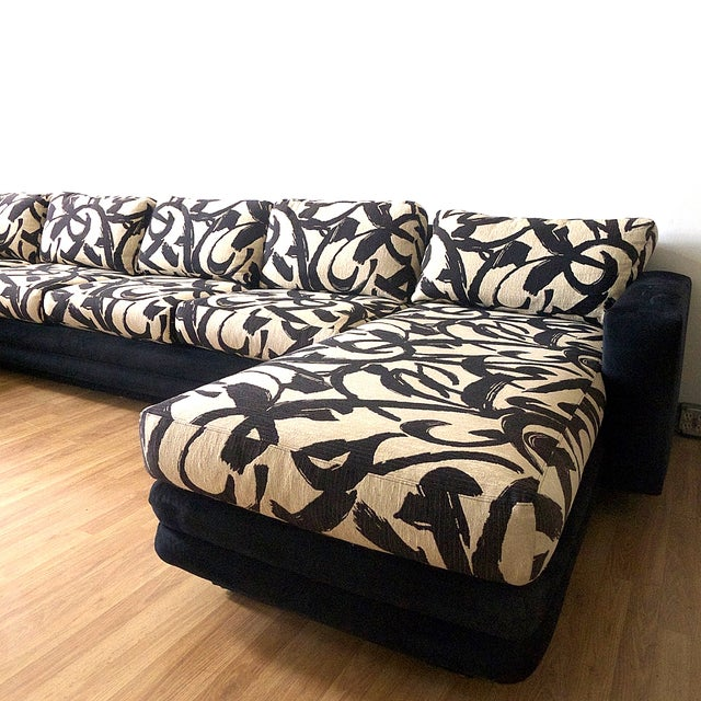Abstract Patterned Secional Sofa by Directional - Image 5 of 8