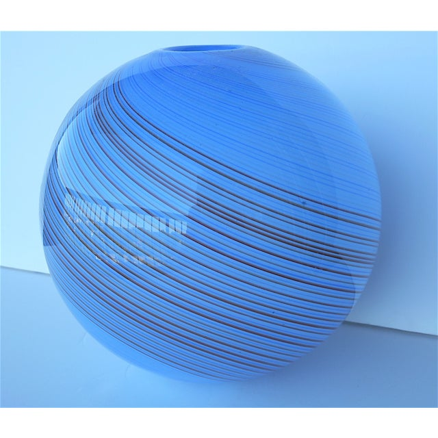 Vintage Hand Blown Globe Vase - Image 3 of 9