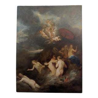 17th Century Flemish Old Master - Hero Mourns the Dead Leander -Oil Painting For Sale