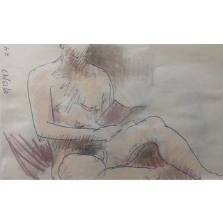 Male Nude Reading a Book by James Bone 1997 For Sale