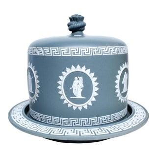 Large Dark Grey Jasperware Cheese Dome, Wedgwood For Sale