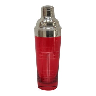 Christmas Red Glass Cocktail Shaker