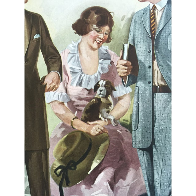 1923 Tailor's Fashion Print For Sale - Image 4 of 5