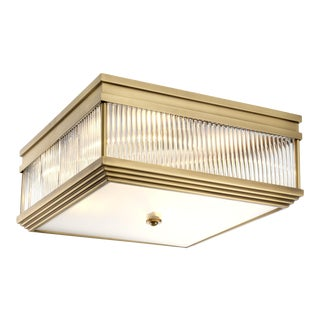 Brass Square Flush Mount   Eichholtz Marly For Sale