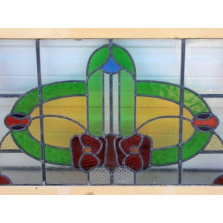 1920's Antique English Stained Glass Window Transom Preview