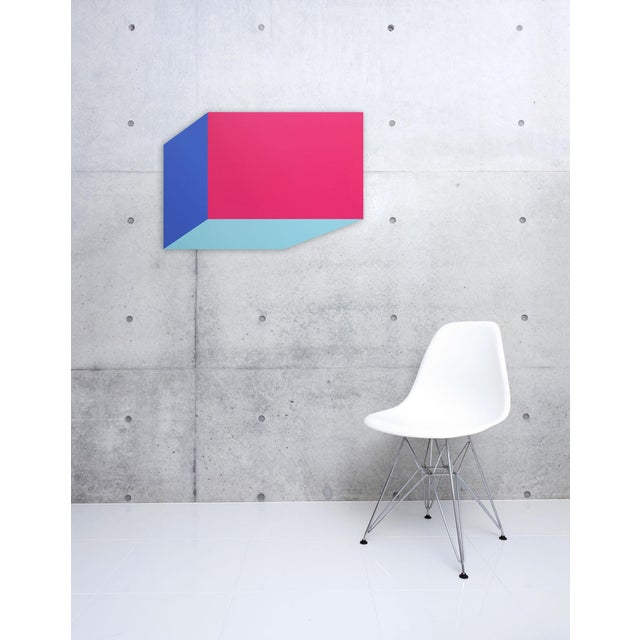 Acrylic on aluminum Edition: Unique, Unframed. Hallard works with the themes of space and geometry, manipulating images...