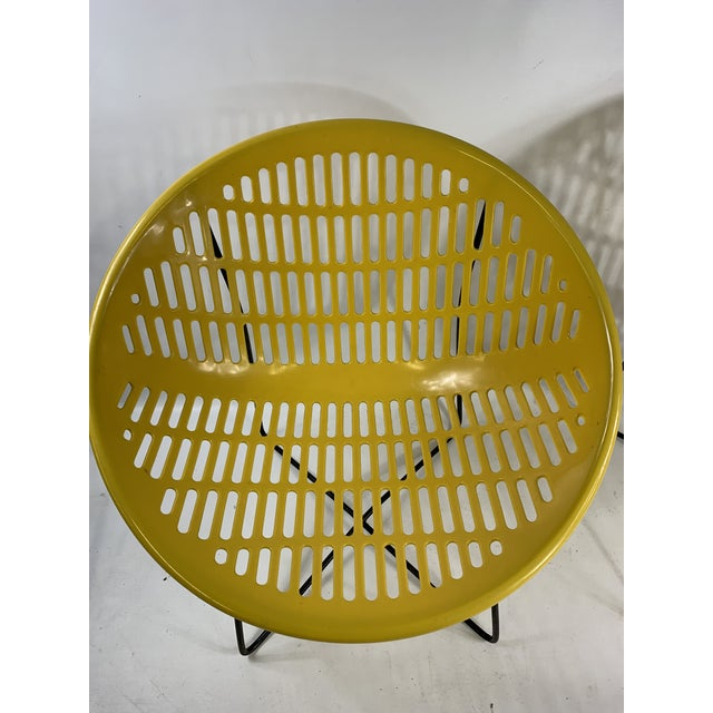 1960s Mid Century Howard Johnson Hotel Yellow Solar Lounge Chairs- a Pair For Sale - Image 5 of 11