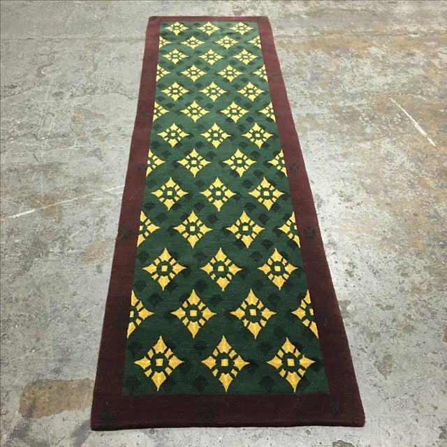 """Hand Woven Tibetan Oriental Runner - 2'6"""" X 8'11"""" - Image 2 of 5"""