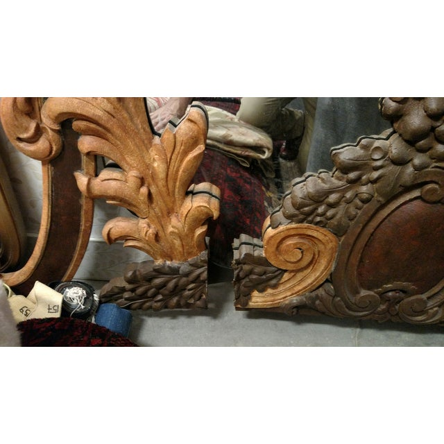 Hand Carved Italian 18th Century Mirrors - Pair For Sale - Image 9 of 9