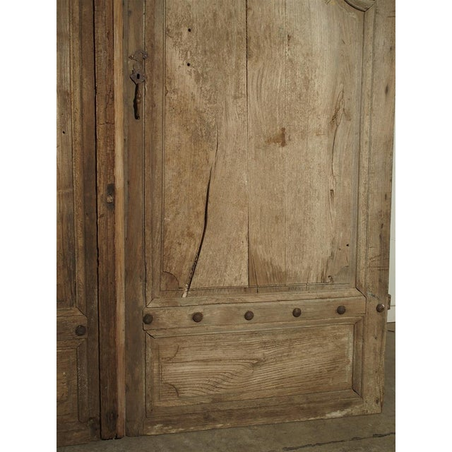 1700s Antique French Oak Doors From Burgundy- A Pair For Sale - Image 9 of 13