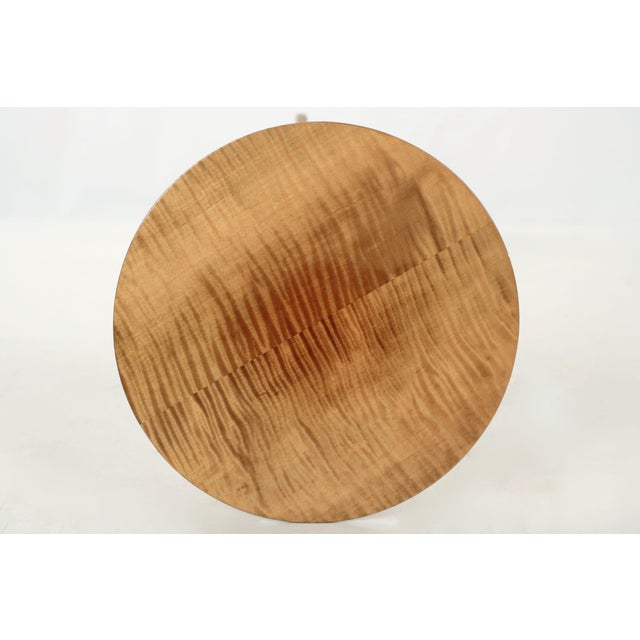 Maple American Shaker Style Handmade Tiger Maple Candlestand Side Table For Sale - Image 7 of 11