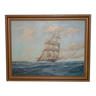 George Wheatley Sailing Ship Oil Painting For Sale