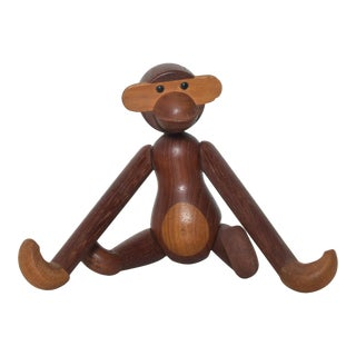 1960s Kay Bojesen Teak Wood Flexible Monkey Toy, Denmark For Sale