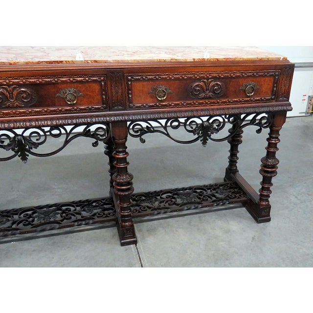 Regency Style Marble Top Sideboard For Sale - Image 4 of 12
