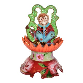 Vintage Monkey Small Lidded Box