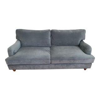 Slate Velvet One Kings Lane Sofa For Sale