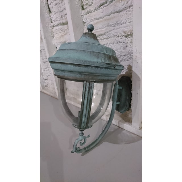 Outdoor Handcrafted Solid Brass Lantern - Image 8 of 9
