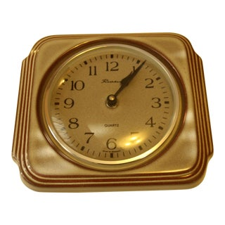 1970s Quartz Ceramic Kitchen Wall Clock Made by Richter and Junghans For Sale