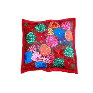 Embroidered Pillow Teotitlan IV For Sale