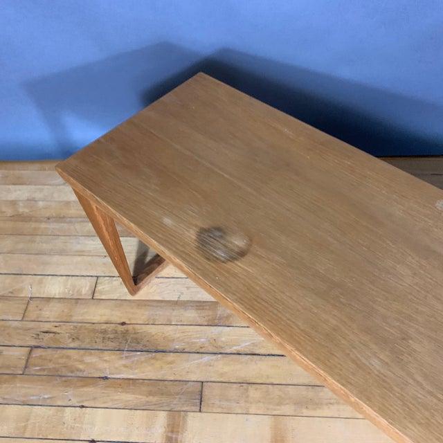 Oak Hall Table by Kai Kristiansen for Aksel Kjersgaard, Denmark 1960s For Sale - Image 9 of 10
