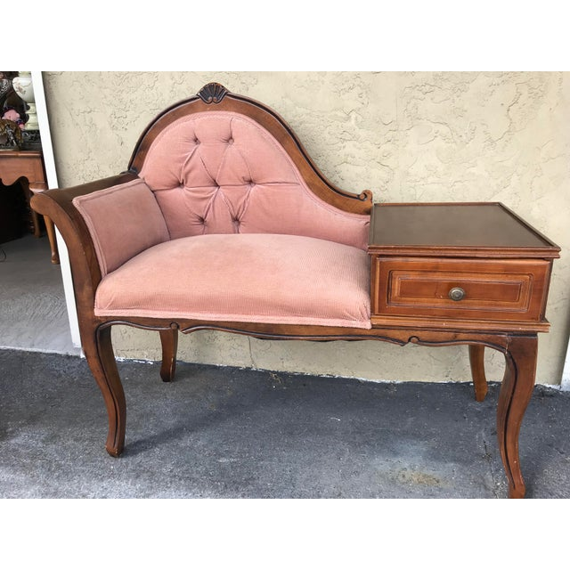 Vintage Gossip /Telephone Chair ,Queen Anne ,Victorian Style For Sale - Image 10 of 10
