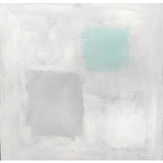 """""""Abstract With Aqua"""", Sarah Trundle, Contemporary Abstract Painting For Sale"""