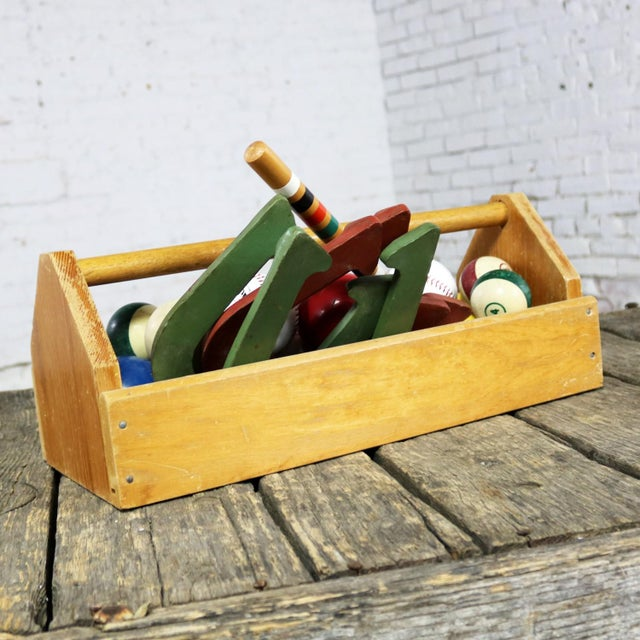 Late 20th Century Object D 'Art Centerpiece Junior Carpenter Kit Tool Box With Balls and Horseshoes For Sale - Image 5 of 13